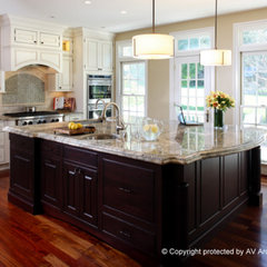 traditional kitchen by AV Architects + Builders
