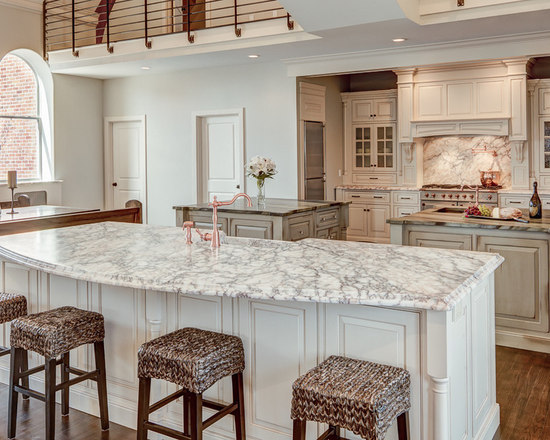 curved kitchen island | houzz