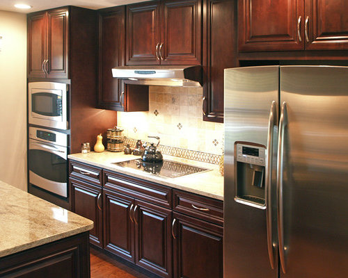 Dark Cherry Cabinets Home Design Ideas Pictures Remodel
