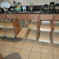 traditional kitchen cabinets by Slide Out Shelves LLC