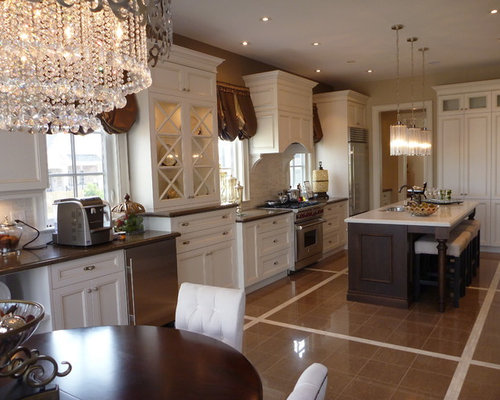 Elegant kitchen island houzz for Elegant kitchen island designs