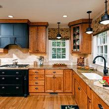 Old oak cabinets