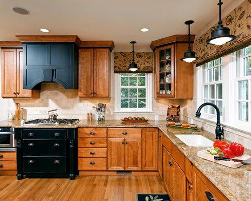 Kitchen Backsplash Oak Cabinets oak cabinet backsplash | houzz