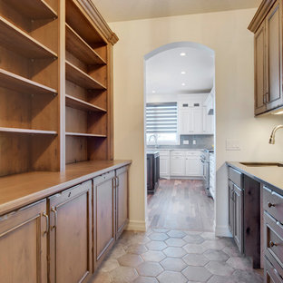 Large Traditional Open Concept Kitchen Inspiration   Inspiration For A  Large Timeless U Shaped Medium