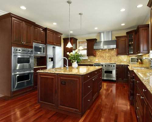 Cherry Cabinet Kitchen Designs kitchen color ideas with cherry cabinets Saveemail Traditional Kitchen