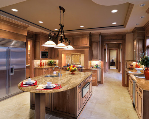 Maple kitchen cabinets houzz for Builders warehouse kitchen cabinets