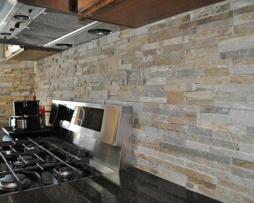 best ledge stone backsplash design ideas remodel
