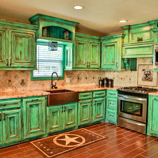 Distressed Green Cabinets Houzz