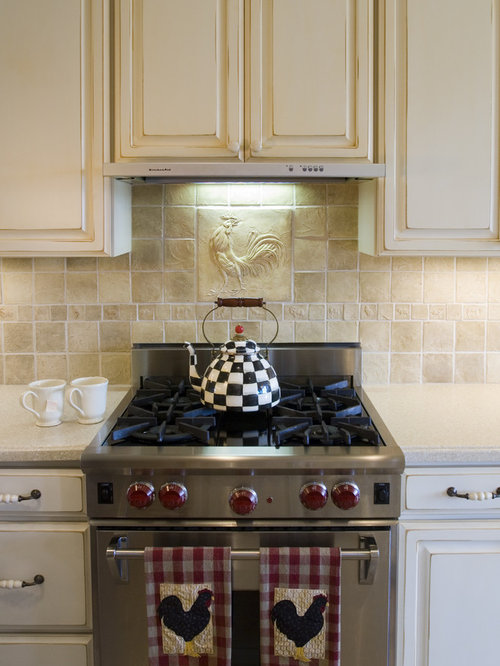 French country backsplash ideas pictures remodel and decor for Country living 500 kitchen ideas