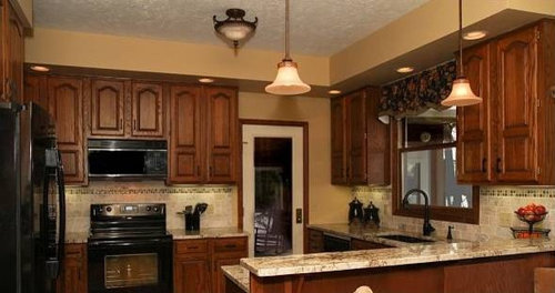 Updated Oak Cabinets Houzz