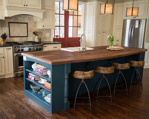 Blue Kitchen Island Ideas, Pictures, Remodel and Decor