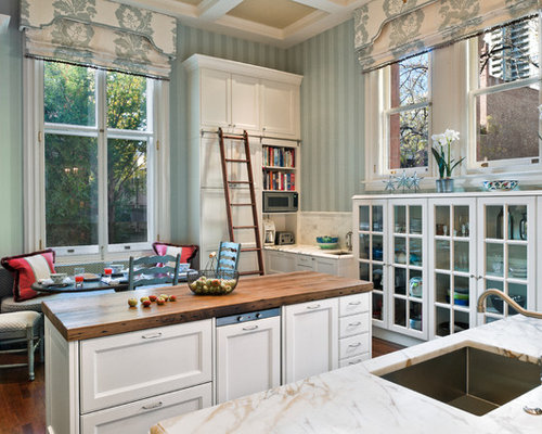 Inspiration For A Timeless Kitchen Remodel In Philadelphia With Wood  Countertops
