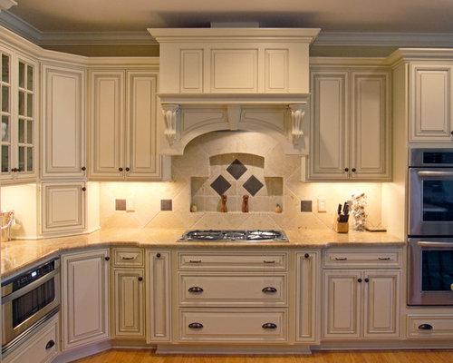 Glazed Cream Cabinets | Houzz