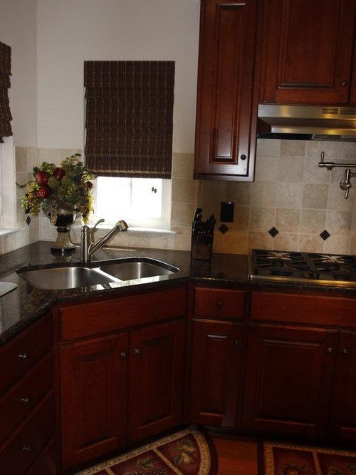 Corner Sink Kitchen Design Ideas & Remodel Pictures