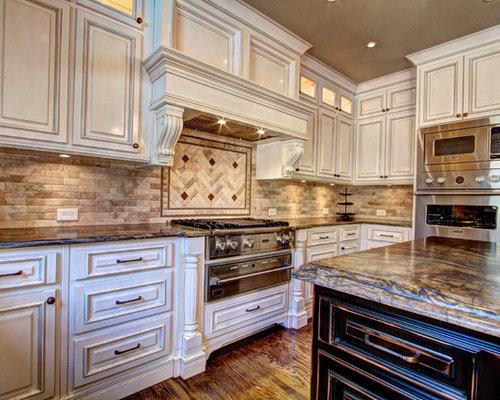 Antique kitchen cabinet houzz for Antique kitchen cabinets