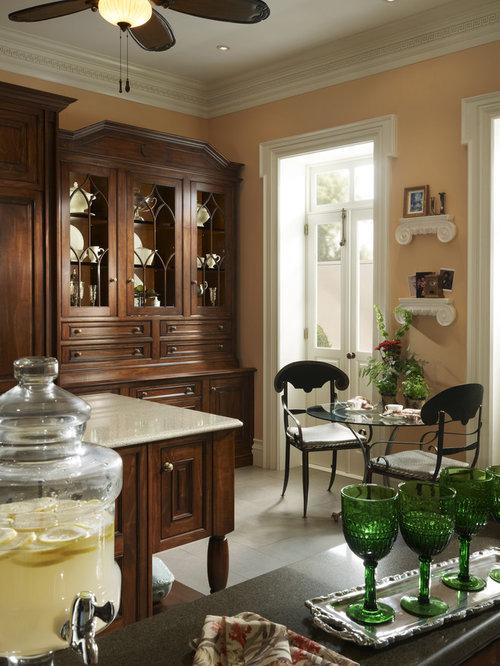 Luxury peach kitchen design ideas renovations photos for Peach kitchen ideas