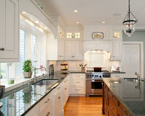 kitchen cabinets decor white tile backsplash design ideas amp remodel pictures houzz 20257