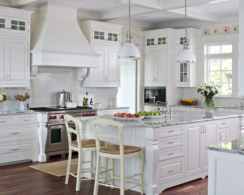 Example Of A Classic Kitchen Design In Other With A Farmhouse Sink,  Raised Panel