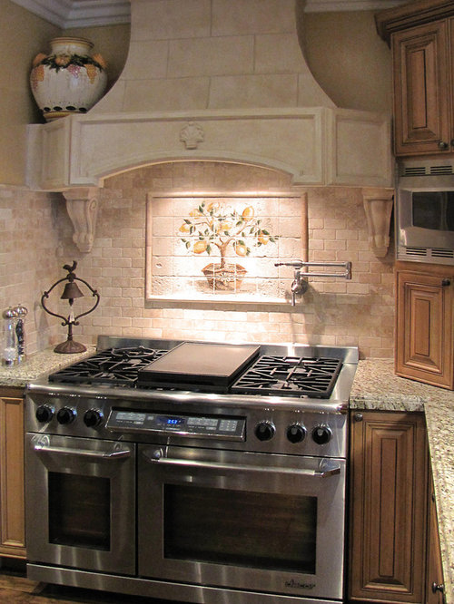 Travertine Tile Backsplash Houzz