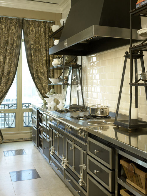 La cornue range houzz for French chateau kitchen designs