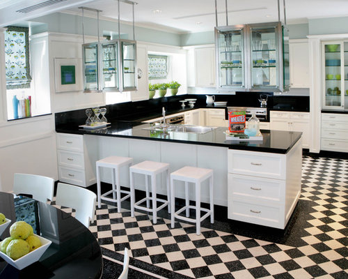 Open kitchen peninsula houzz for Peninsula kitchen designs