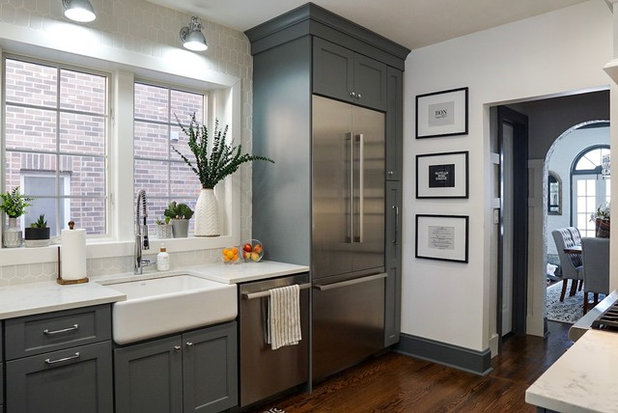 Transitional Kitchen by Kelly Colonna