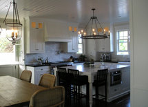 What are the dimensions of the kitchen, please? Also how much space do you need for a dinning table like here?