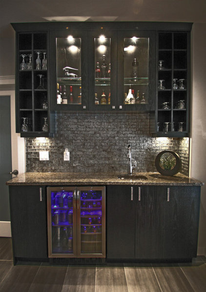 Traditional Basement by Kitchen Designs by Delta