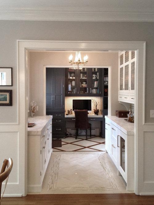 Cuisine parall le avec un placard porte vitr e photos et id es d co de cuisines - Cuisine parallele ...