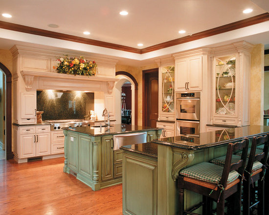 Distressed Green Kitchen Cabinets distressed sage green cabinet | houzz