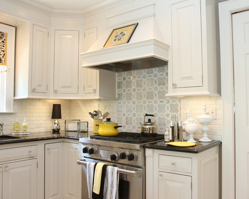 kitchen backsplash for white cabinets white kitchen backsplash houzz 24563