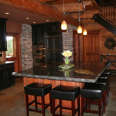 Traditional Kitchen by Michael Tall Custom Homes Inc