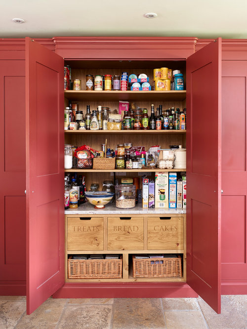 Farmhouse Kitchen Pantry Photos Country Kitchen Pantry Photo In Other With Recessed Panel Cabinets