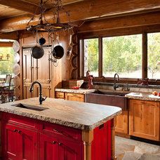 rustic kitchen by Native Trails