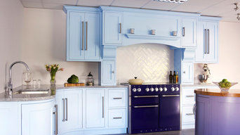Traditional Kitchen Painted Blue Lavender Palette