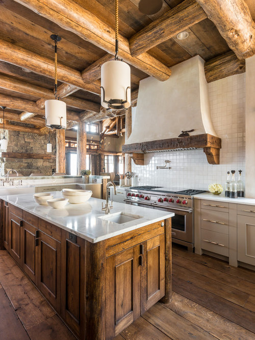 Inspiration for a timeless open concept kitchen remodel in Other with an  undermount sink  flatRustic Kitchen Island   Houzz. Rustic Kitchen Island. Home Design Ideas