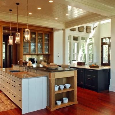 Elegant open concept kitchen photo in Charleston