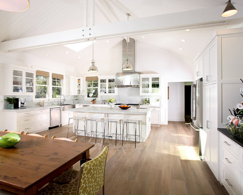 Unique White Kitchen Vaulted Ceiling A In Decorating Ideas