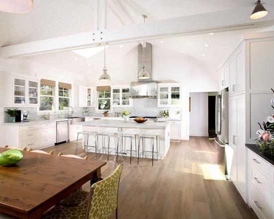 White Kitchen Vaulted Ceiling vaulted ceiling kitchen | houzz