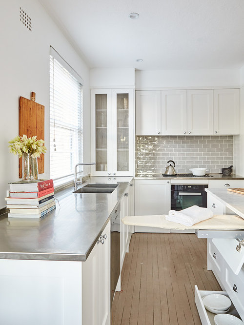 Traditional L-shaped Kitchen Design Ideas, Renovations