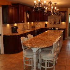 Traditional Kitchen by Pyramid Marble & Granite