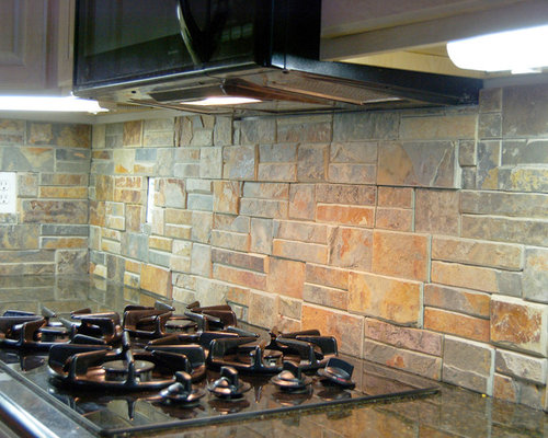 natural stone backsplash kitchen backsplash houzz 3452