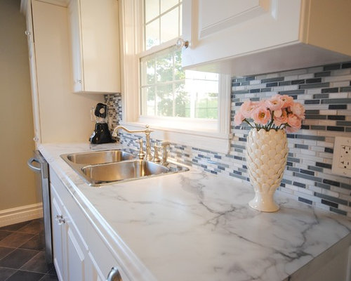 White Laminate Kitchen Countertops white laminate countertop | houzz