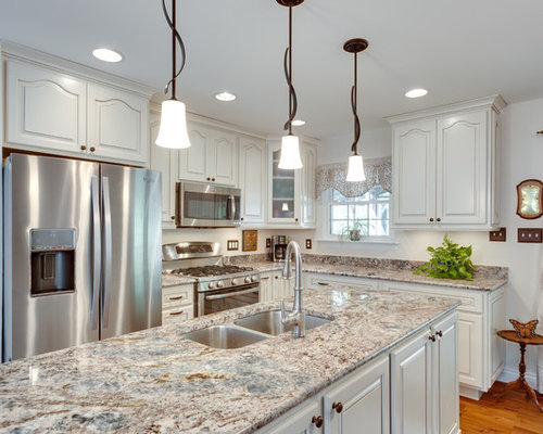 Best Blue Flower Granite Design Ideas & Remodel Pictures | Houzz