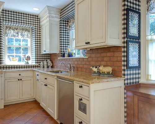 Gingham wallpaper ideas pictures remodel and decor for Thick kitchen wallpaper