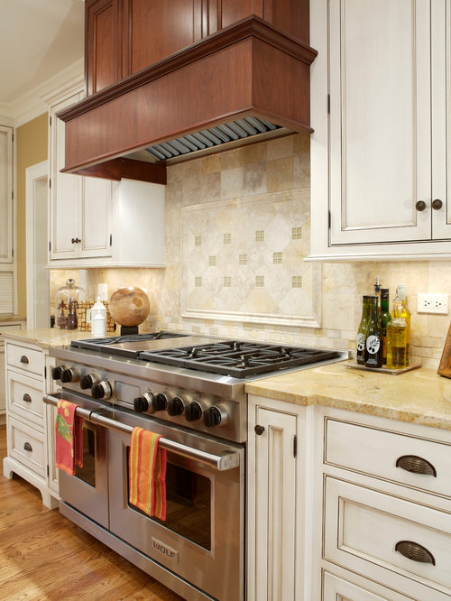 Example Of A Classic Kitchen Design In Chicago With Beaded Inset Cabinets White Cabinets