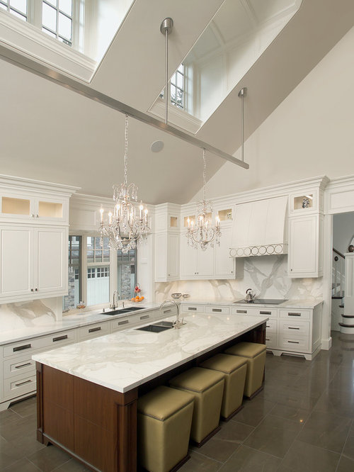 vaulted kitchen ceiling lighting. example of a classic kitchen design in toronto with recessedpanel cabinets white vaulted ceiling lighting n