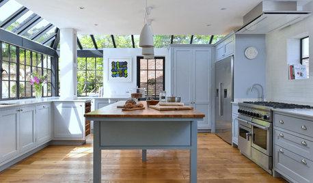 Alles neu! Eine Landhausstil-Küche im gläsernen Anbau