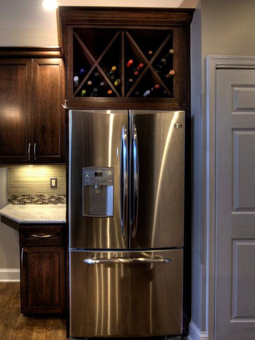 Best Wine Rack Above Refrigerator Design Ideas & Remodel Pictures | Houzz
