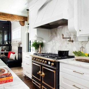 Captivating Example Of A Classic L Shaped Open Concept Kitchen Design In Atlanta With  An Undermount